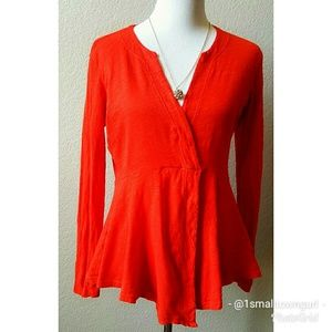 Anthropologie Left of Center sweater red XS